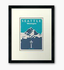 Seattle Washington. Framed Print