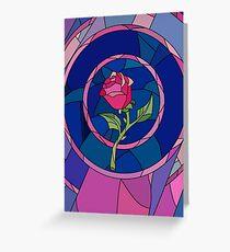 Tarjeta de felicitación Glass Rose