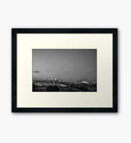 Meridian light in London Framed Print
