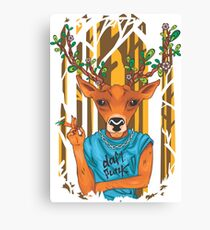 Deer parody daft punk  Canvas Print