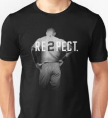 Respect Derek Jeter Re2pect 2 On Back new york uniform MJ baseball T-Shirt