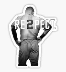Respect Derek Jeter Re2pect 2 On Back new york uniform MJ baseball Sticker