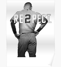 Respect Derek Jeter Re2pect 2 On Back new york uniform MJ baseball Poster