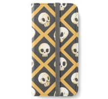 Tiling Skulls 1/4 - Yellow  iPhone Wallet/Case/Skin