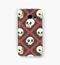 Tiling Skulls 2/4 - Red Samsung Galaxy Case/Skin