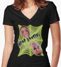 Headbangers wrestling 1998 Women's Fitted V-Neck T-Shirt