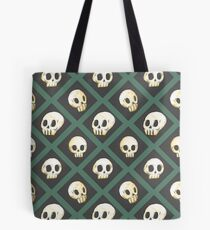 Tiling Skulls 3/4 - Green Tote Bag
