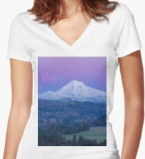 mountain top Women's Fitted V-Neck T-Shirt