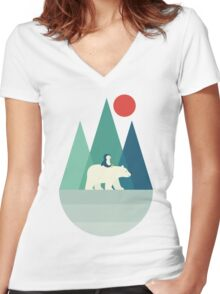 Bear You Women's Fitted V-Neck T-Shirt