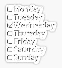 On Wednesdays... Sticker