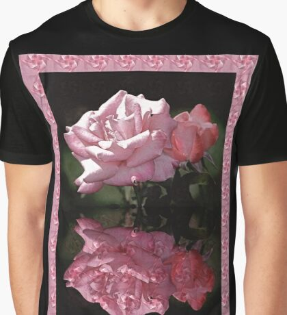 Passionately Pink Rose Duo Graphic T-Shirt