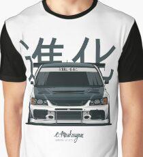 Lancer Evo IX (white) Graphic T-Shirt