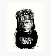 "Stephen King - ""The King"" Art Print"