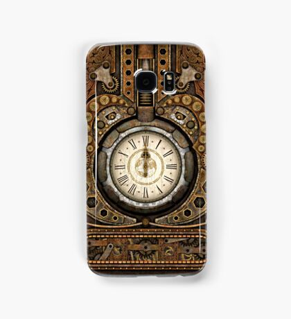 Steampunk Vintage Time Machine Samsung Galaxy Case/Skin