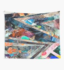 Triangle Forest Abstract Rainbow Futuristic Wall Tapestry