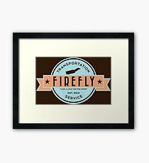 Firefly Transportation Framed Print