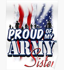 Proud of my Army Sister Poster