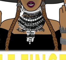 Beyonce Middle Fingers  Sticker