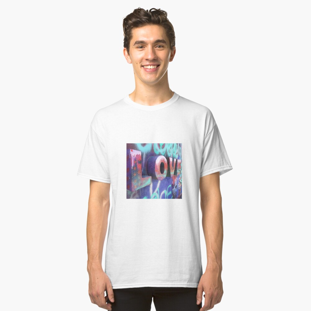 Graffiti with Love Classic T-Shirt Front