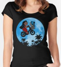 Stitch Phone Home Women's Fitted Scoop T-Shirt
