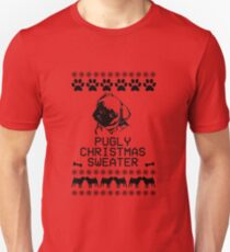 Pugly Christmas Sweater (black)  T-Shirt