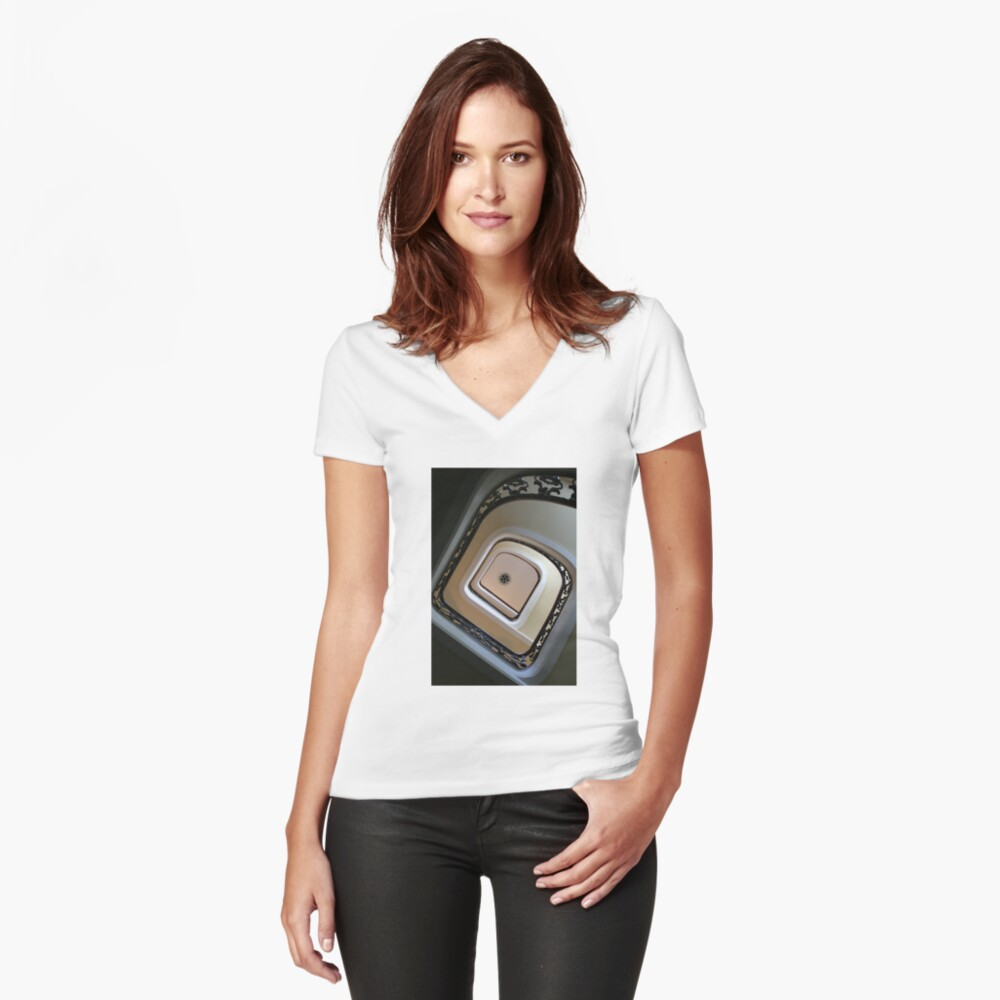 Ascension Women's Fitted V-Neck T-Shirt Front