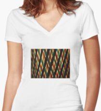 Braided Light Women's Fitted V-Neck T-Shirt