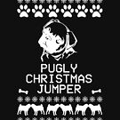 Pugly Christmas Jumper (White) by fashprints