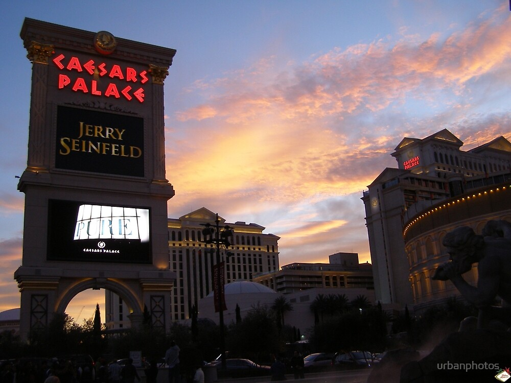 Caesars Sunset - December 2006 by urbanphotos
