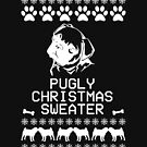 Pugly Christmas Sweater (White) by fashprints