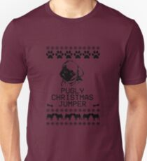 Pugly Christmas Jumper (Black) T-Shirt