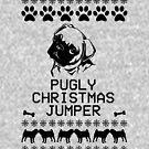 Pugly Christmas Jumper (Black) by fashprints