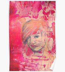 Jaynie - original portrait of a girl Poster