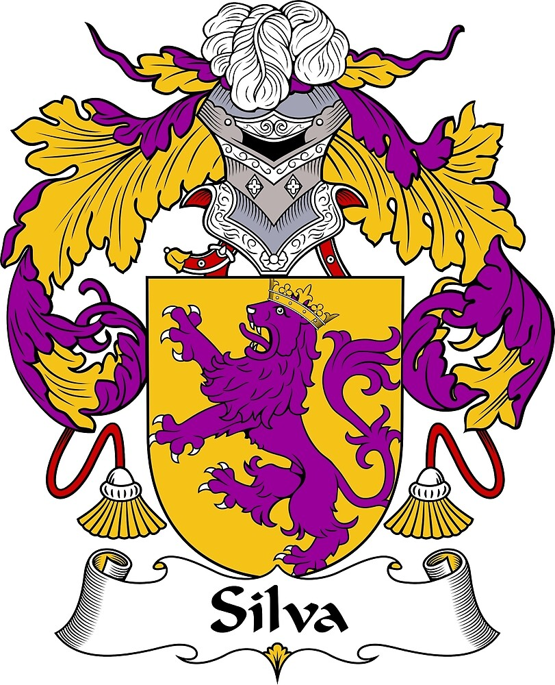 Quot Silva Coat Of Arms Family Crest Quot By William Martin