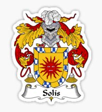 Solis Coat of Arms/Family Crest Sticker