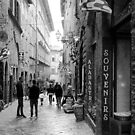 Streets of Volterra by Barbara  Brown