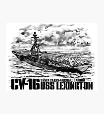Aircraft carrier Lexington Photographic Print