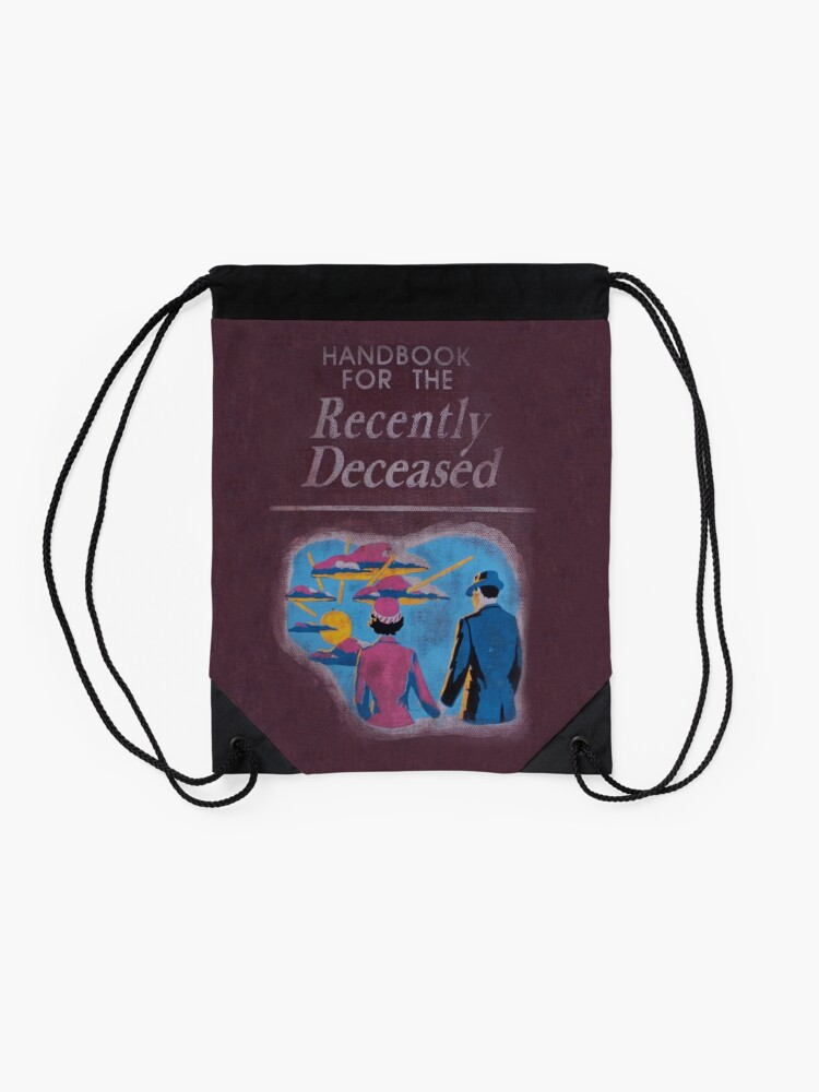 Alternate view of Handbook for the recently deceased Drawstring Bag