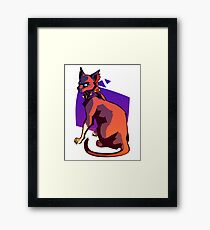 feral cat Framed Print
