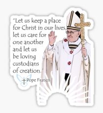 Pope Francis Quote Sticker