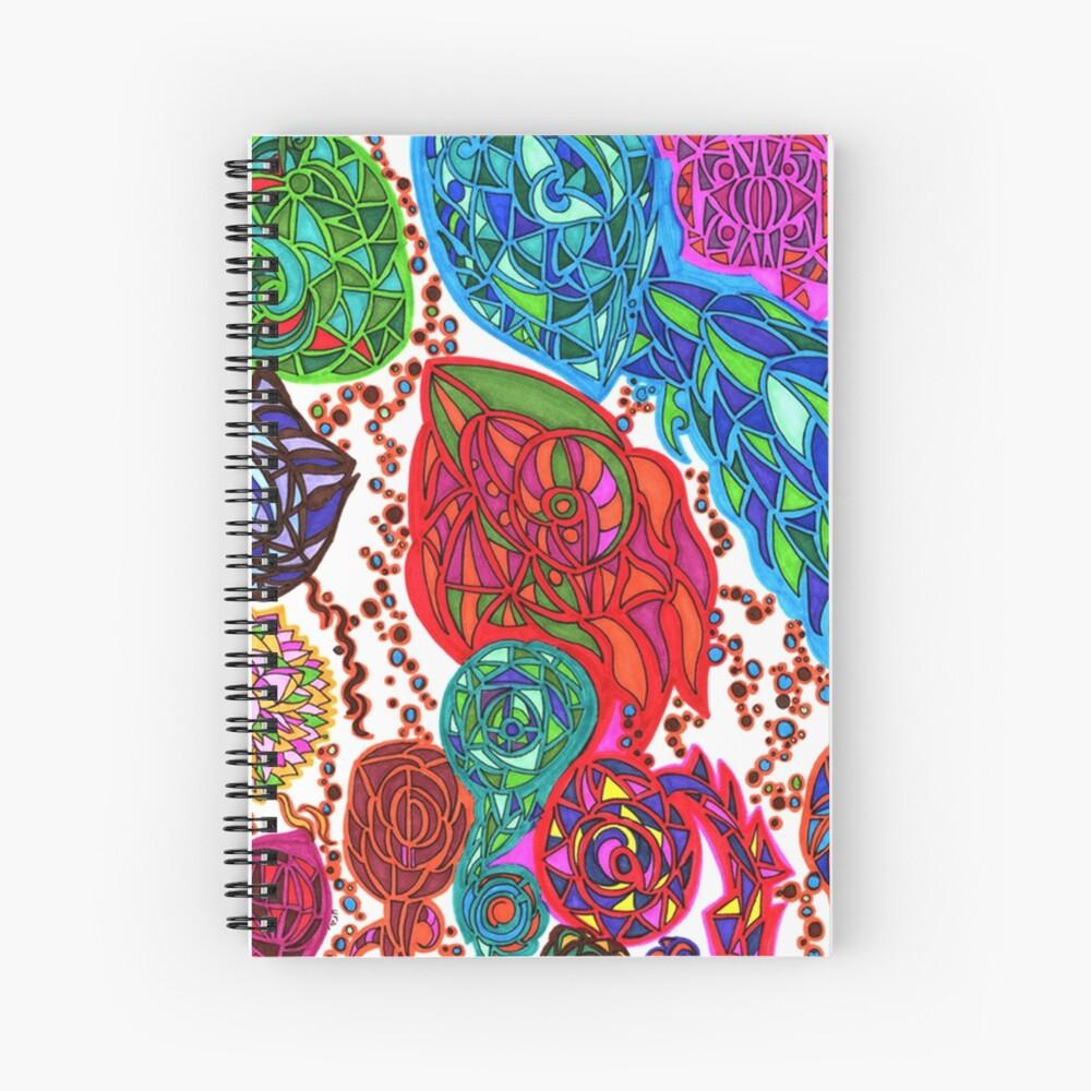 Gaudi in January pattern design Spiral Notebook