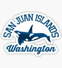 San Juan Islands. Sticker