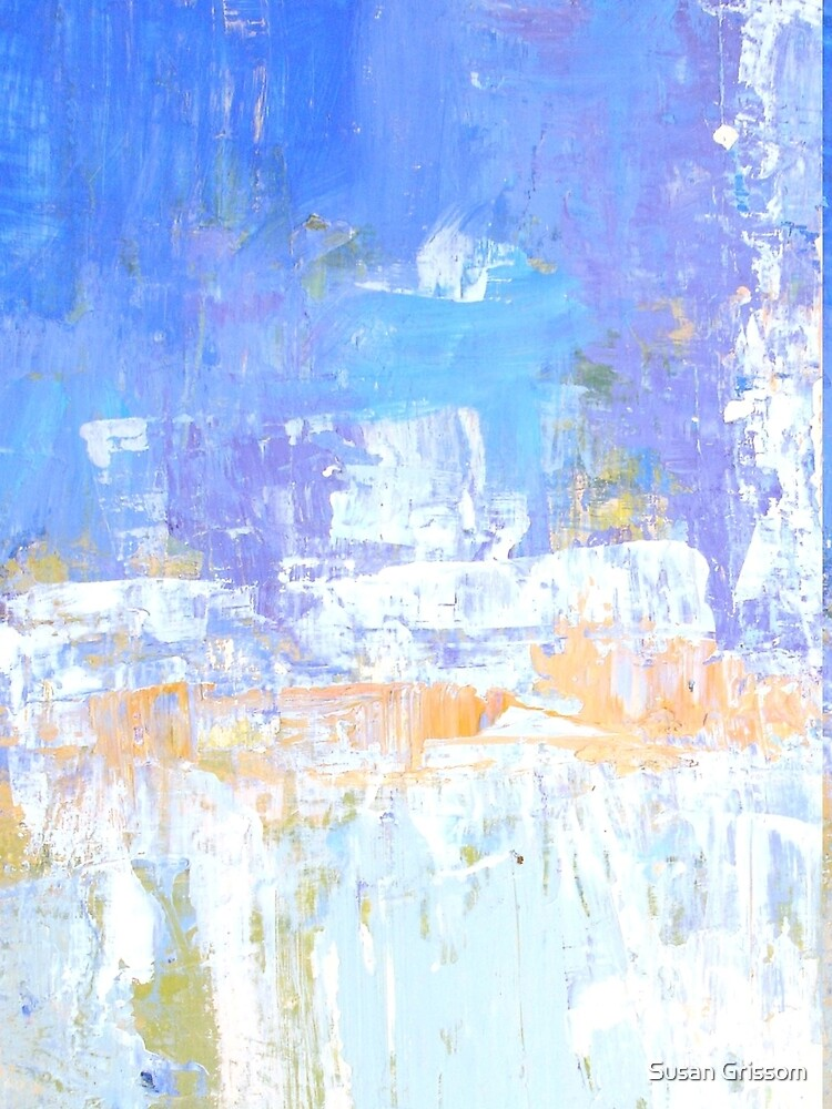 Blue aqua abstract no 45 by SusanGrissom