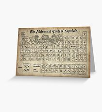 Alchemical Table of Symbols Greeting Card