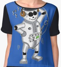 retro robot -the groover t-shirt Chiffon Top