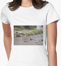 Wildebeest Migration, Tanzania Womens Fitted T-Shirt
