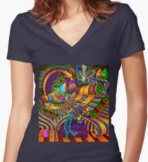 The Conductor of Consciousness Women's Fitted V-Neck T-Shirt