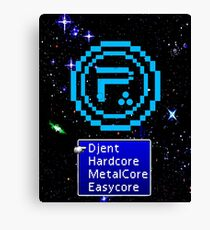 Periphery 8-bit Blue/Select Difficulty Canvas Print