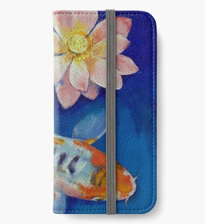 Koi Fish and Lotus iPhone Wallet