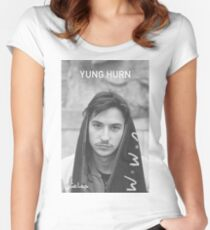 Yung Hurn Portait Women's Fitted Scoop T-Shirt